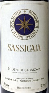 Sassicaia Etikett