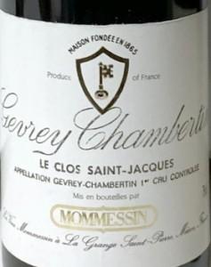 Clos St.Jaq 1985 Etikett